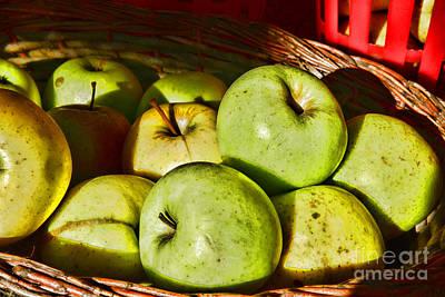 Food - A Basket Of Apples Art Print by Paul Ward