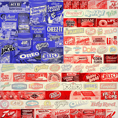 Food Advertising Flag Art Print by Gary Grayson