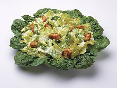 Romaine Lettuce Photograph - Food - Caesar Salad Prepared by Ed Young