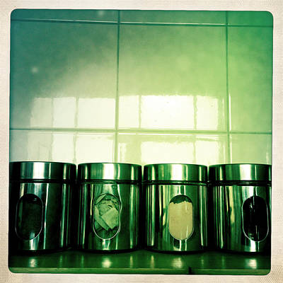 Food Stores Photograph - Food Containers by Les Cunliffe