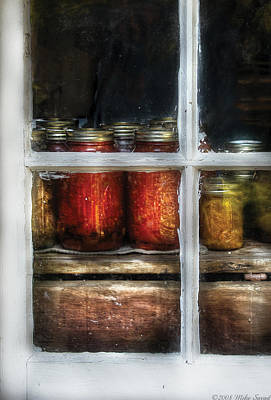 Photograph - Food - Country Preserves  by Mike Savad