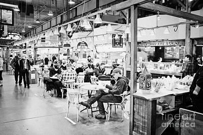 Granville Island Photograph - food court inside granville island public market Vancouver BC Canada by Joe Fox
