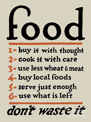 Local Food Digital Art - Food - Don't Waste It by God and Country Prints