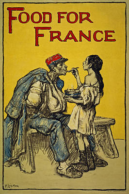 Food For France, 1918 Print by Francis Luis Mora