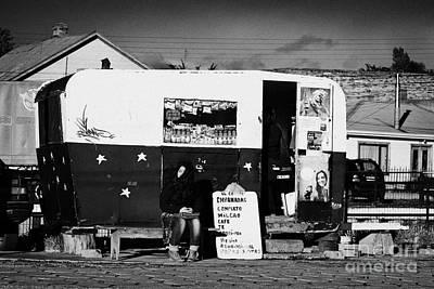 food kiosk for local people in small caravan in Punta Arenas Chile Art Print by Joe Fox