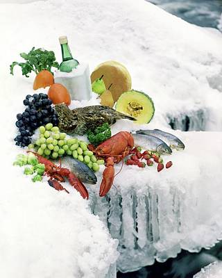 Healthy Food Photograph - Food On Ice by Stan Young