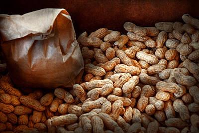 Genus Photograph - Food - Peanuts  by Mike Savad