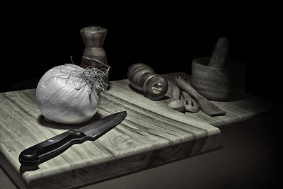 Cutting Photograph - Food Prep Still Life by Tom Mc Nemar