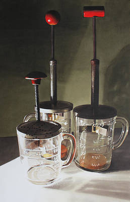 Reflective Painting - Food Processors by Denny Bond