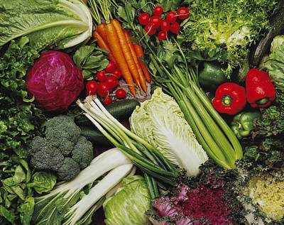 Food- Produce, Mixed Vegetables Art Print