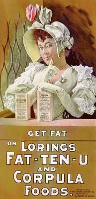 Plump Women Wall Art - Photograph - Food Product Advert by Library Of Congress/science Photo Library