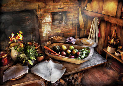 Food - The Start Of A Healthy Meal  Art Print by Mike Savad