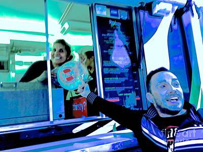 Food Truck In Blue Original by Diane Phelps