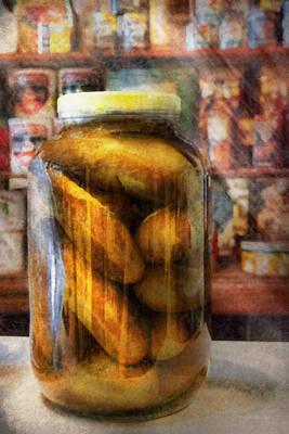 Food - Vegetable - A Jar Of Pickles Art Print by Mike Savad