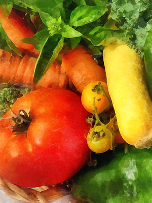 Agriculture Photograph - Food - Vegetable Medley by Susan Savad
