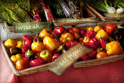 Swiss Chard Photograph - Food - Vegetables - Sweet Peppers For Sale by Mike Savad