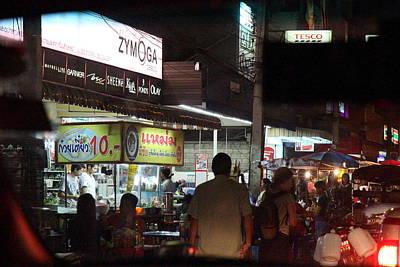 Food Vendors - Night Street Market - Chiang Mai Thailand - 01131 Art Print
