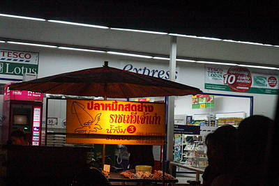 Food Vendors - Night Street Market - Chiang Mai Thailand - 01132 Art Print by DC Photographer
