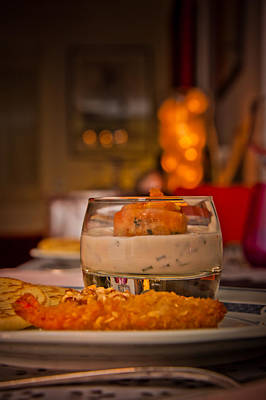 Glass Table Reflection Photograph - Food With An Atmosphere #01 by Loriental Photography