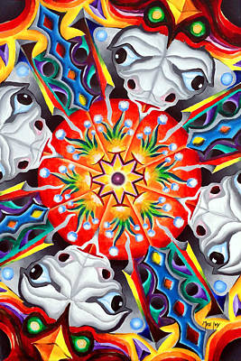 Wall Art - Painting - Foofy's Groovy Mandala by Michael Ivy