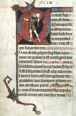 Psalter Painting - Fool, C1290 by Granger