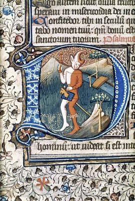 Psalter Painting - Fool On Hobby Horse by Granger