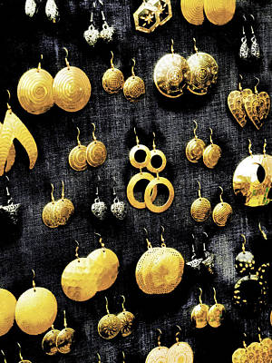 Gold Earrings Photograph - Fool's Gold by Steve Taylor