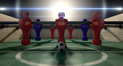 Field Digital Art - Foosball Table by Allan Swart