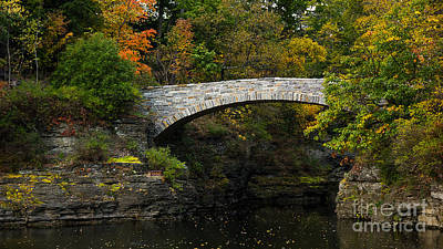 Foot Bridge At Beebe Lake Art Print