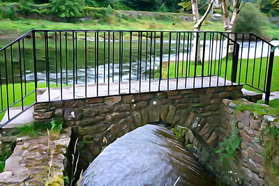 Photograph - Foot Bridge At Inistioge by Charlie and Norma Brock