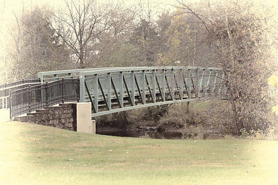 Photograph - Foot Bridge - Mount Holly by Beth Sawickie