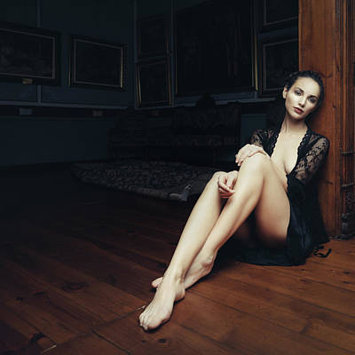 Nude Portraits Photograph - Foot Fetish Victim by Velizar Ivanov