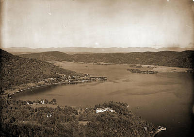 Adirondack Drawing - Foot Of Lake From Rogers Rock Heights, Lake George, Lakes & by Litz Collection