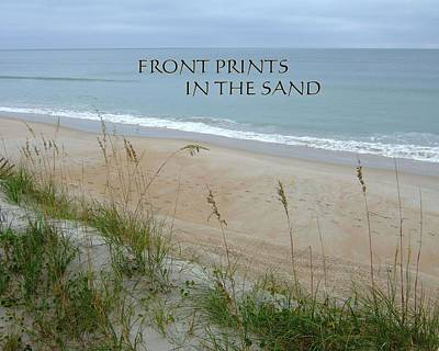 Photograph - Foot Prints In The Sand by Bob Sample