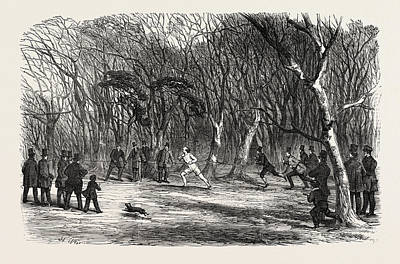 Bayswater Drawing - Foot Race At Bayswater, London, Uk by English School