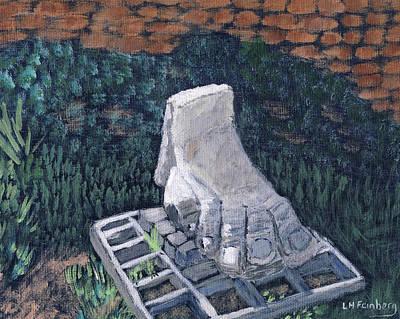 Painting - Foot Statue-caesaria by Linda Feinberg