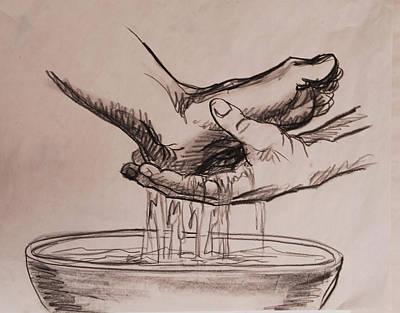 Foot Washing Original by Heidi E  Nelson