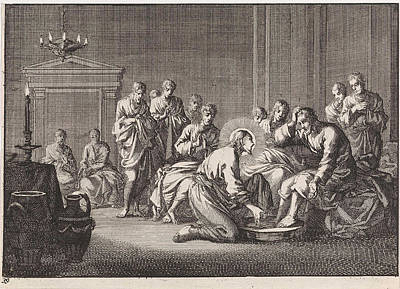 Foot Washing, Jan Luyken, Pieter Mortier Art Print by Jan Luyken And Pieter Mortier