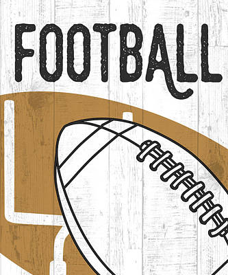 Football Painting - Football by Aubree Perrenoud