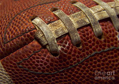Footballs Closeup Photograph - Football by Diane Diederich