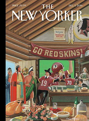 American Painting - Football Fans Invite People Over For Thanksgiving by Bruce McCall