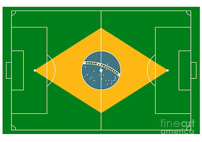 Football Field Art Print