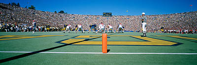Color Block Photograph - Football Game, University Of Michigan by Panoramic Images