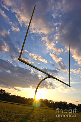 Football Goal At Sunset Art Print