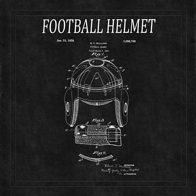 Photograph - Football Helmet Patent 2 by Andrew Fare