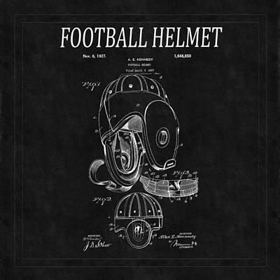 Photograph - Football Helmet Patent 4 by Andrew Fare