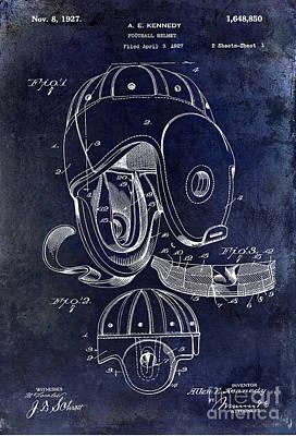 Minnesota Vikings Photograph - 1927 Football Helmet Patent by Jon Neidert