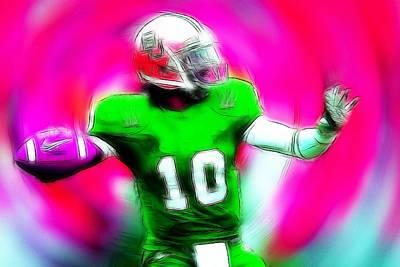 Football Heros Art Print by Steve K