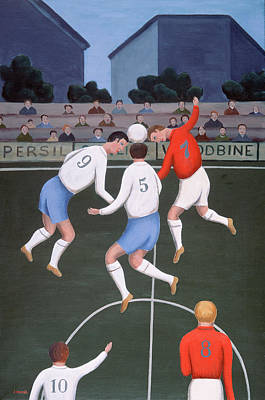Football Art Print by Jerzy Marek