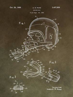 Football Mouthguard Patent Art Print by Dan Sproul